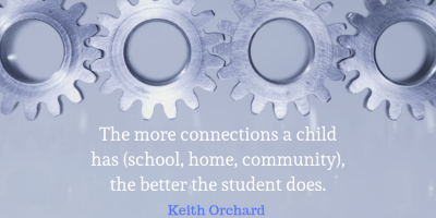 The more connections a child has (school, home, community), the better the student does.